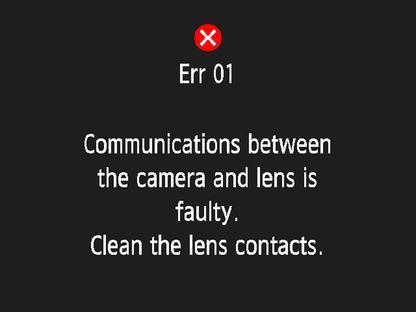 ошибка err1 в фотоаппаратах canon